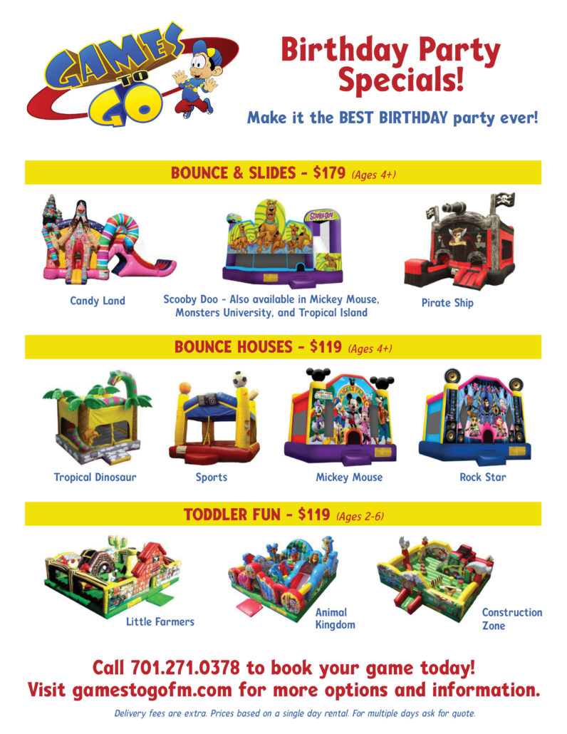 birthday party game rentals