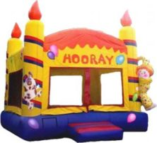 Inflatable clown themed bounce houses Games to Go Games rental
