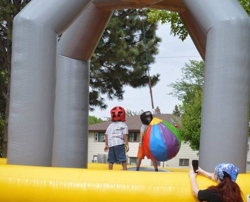 big teatherball inflatable rental
