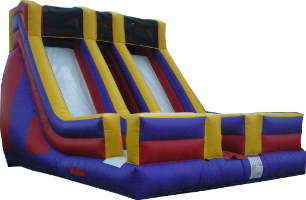 double inflatable slide