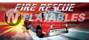 fire rescue inflatables rental