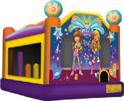 Girl inflatable rental bounce house