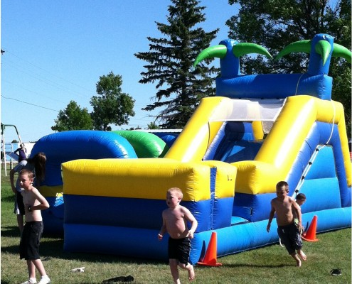 obstacle course inflatable birthday party rental