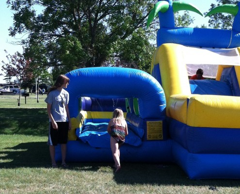 obstacle course inflatable rental