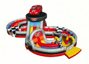 racing track inflatable rental