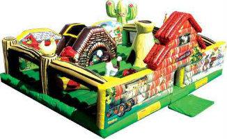 Inflatable barnyard