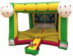 baseball inflatable game rental