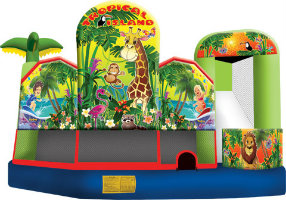 tropical island inflatable