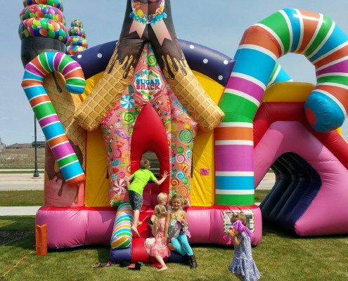 kids inflatable party rentals candy land
