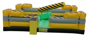 melt down zone inflatable rental