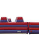 large extended inflatable slide